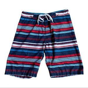 Old Navy Men's Striped Swim Trunks Board Shorts